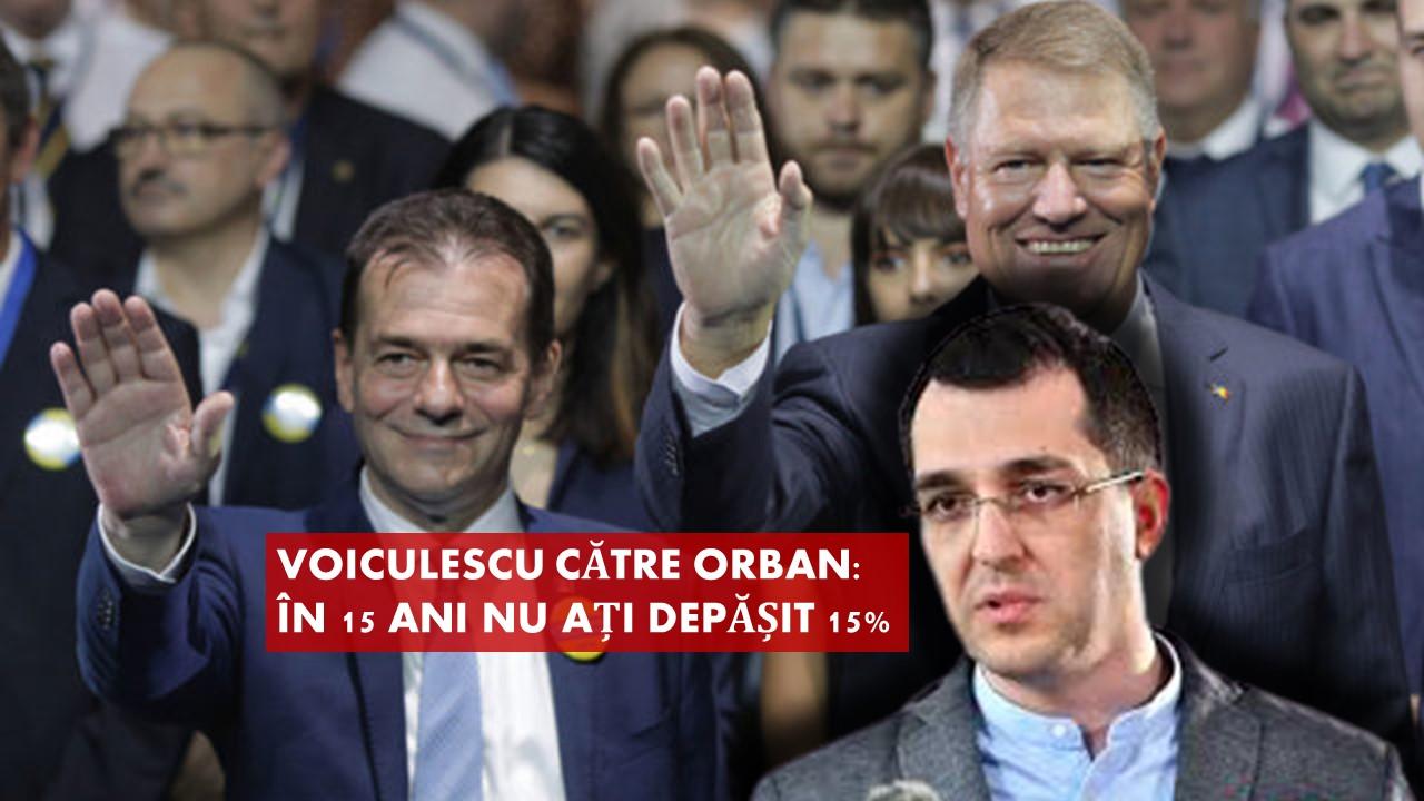 Voiculescu către Orban: în 15 ani nu ați depășit 15%. Cum se spune pe  românește: CIOCUL MIC - 60m.ro