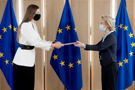 Ambasadorul Daniela Morari, acreditată ca Șeful Misiunii Republicii Moldova pe lângă Uniunea Europeană