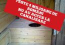 Peste 4 milioane de români nu au acces la canalizare și apă potabilă