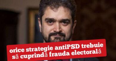 Peleologu: orice strategie antiPSD trebuie să cuprindă frauda electorală