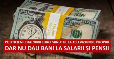 Cum toacă partidele banii românilor: 9 000 de euro minutul la propriile televiziuni