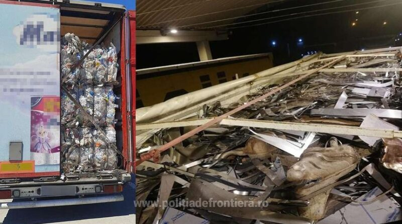 Giurgiu: Peste 59 de tone de deşeuri din plastic, metal şi oţel, găsite de poliţiştii de frontieră